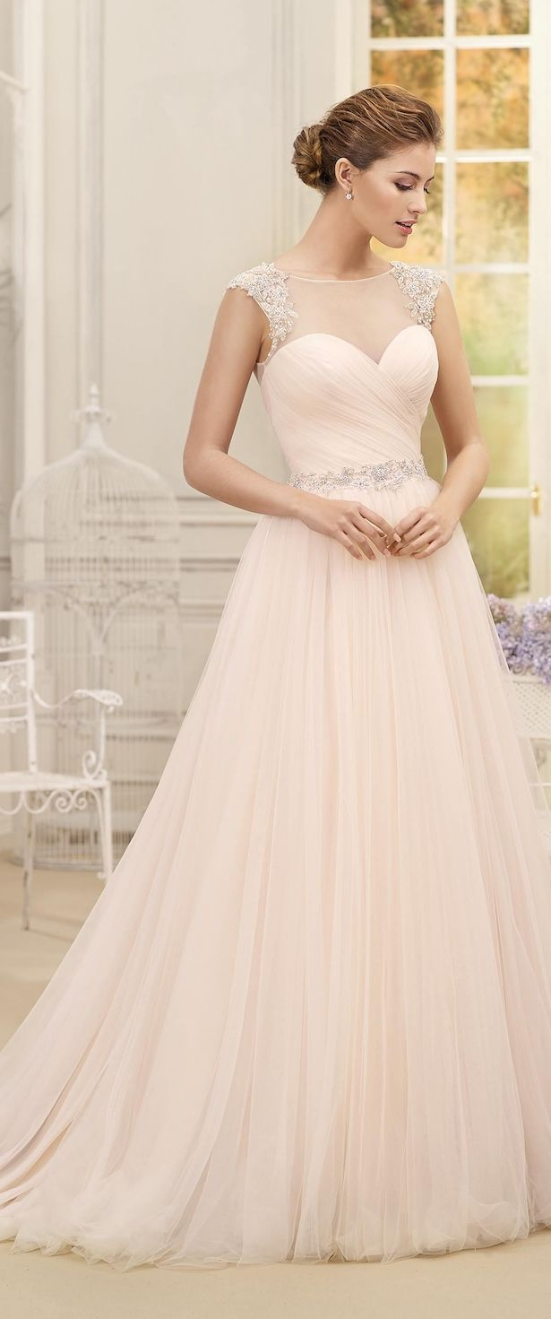 Romantic Bridal Gowns : Best blush wedding dresses ideas only on