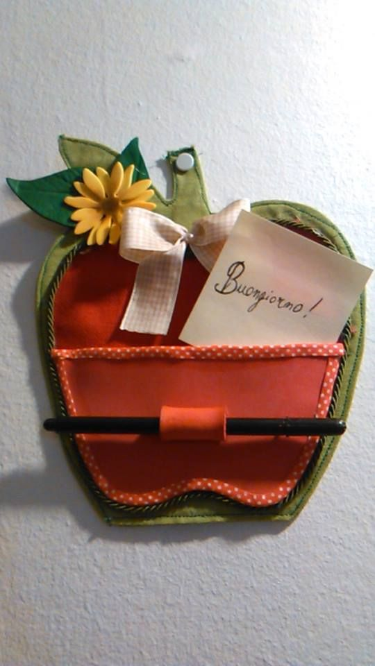 cucito creativo a forma di mela