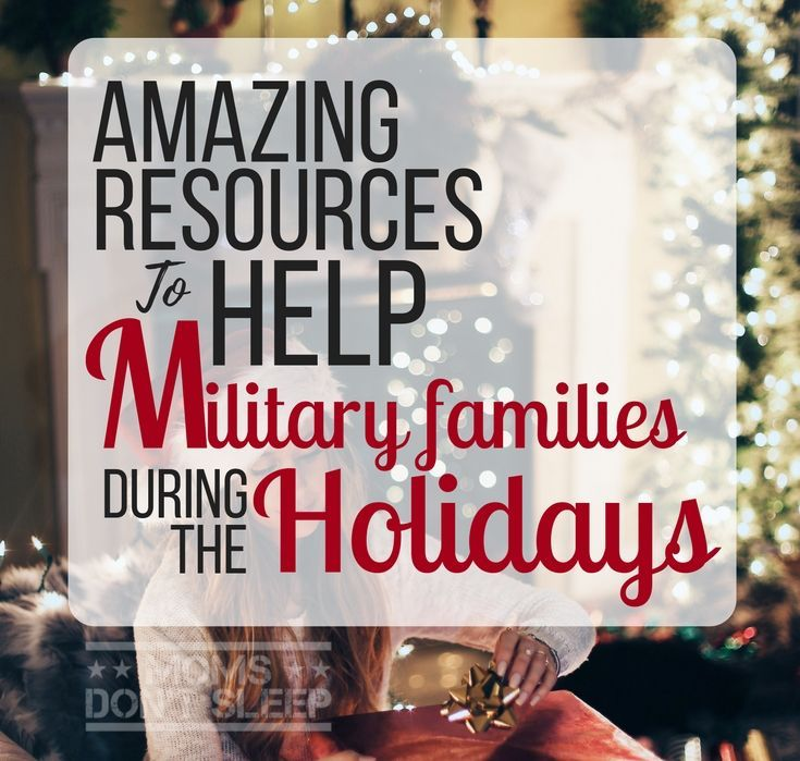This big list of programs and resources are set up to help military families during the holidays, plus some holiday budgeting tips for your military family.