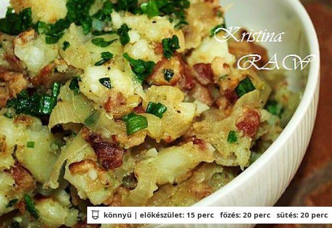 Hagymás krumpli baconnel
