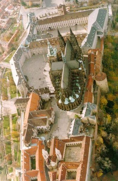 Prague castle from the air, Prague, Czechia #castle #prague #czechia