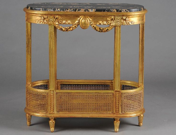 Empire style carved and giltwood eterge