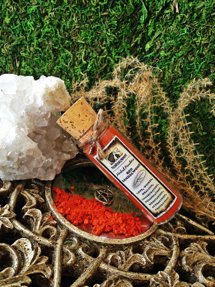 RED SANDALWOOD Incense Herbal Powder - Witchcraft, Magick, Hoodoo