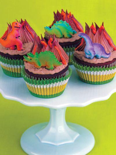 Dinosaur Volcano Cupcakes