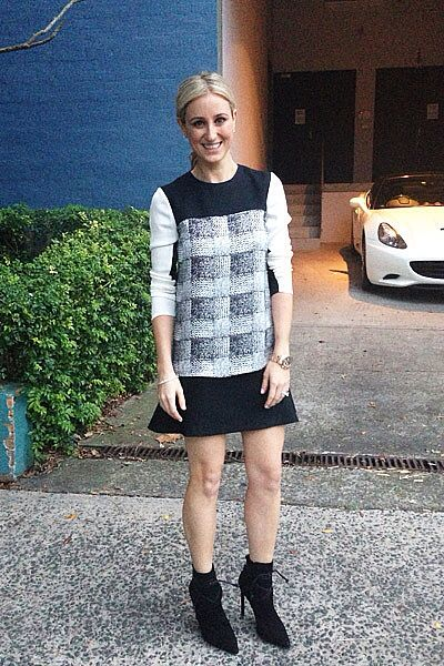 Dress and boots. Sydney style