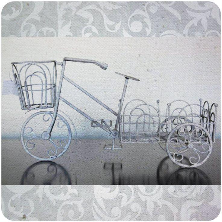 Porta macetas bicicleta Código Fi07-1 Alto 26 cm / Ancho 21 cm / Largo 50 cm $32.000
