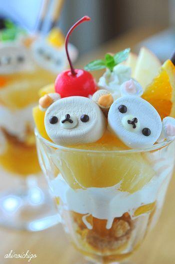 (160) Kawaii Rilakkuma ♡ Parfait | Japanese Sweets | Pinterest