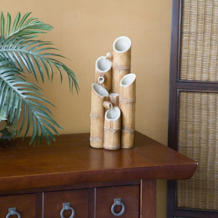 Sheba Bamboo Tabletop Fountain - Indoor Tabletop Fountains at Simply Fountains