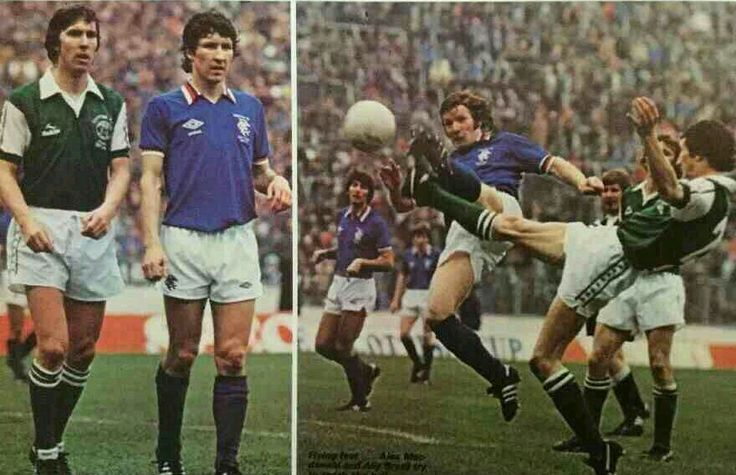 Rangers 0 Hibernian 0 in May 1979 at Hampden Park. Action from the Scottish Cup Final.