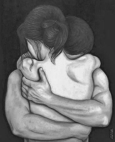 twee sterke armen om je heen