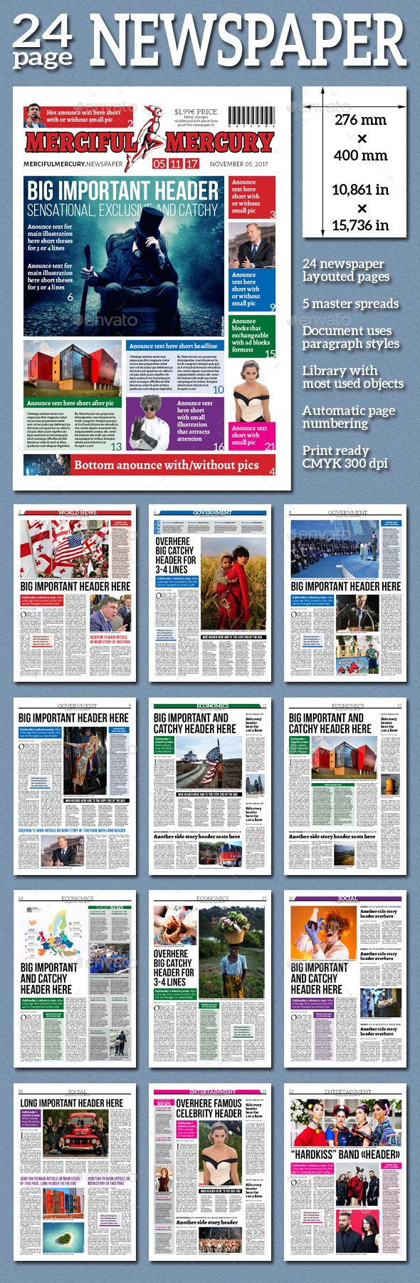 Daily Newspaper - Newsletters Print Templates Download here : https://graphicriver.net/item/daily-newspaper/18967595?s_rank=22&ref=Al-fatih