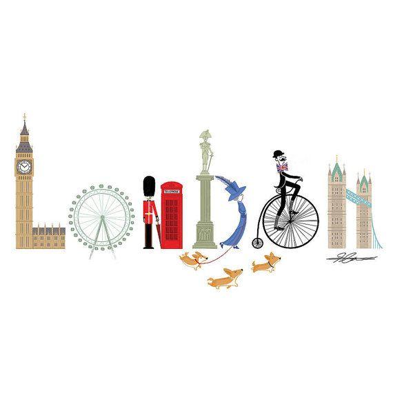 Londres typographie A4 impression