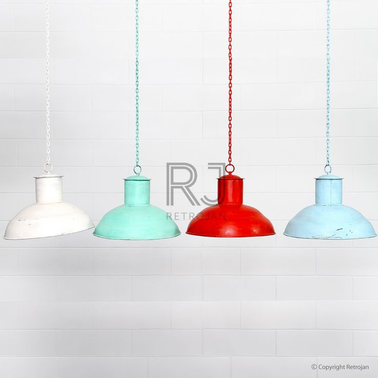 Buy Doug Industrial Light Shade (White) | Retro Lights - Retrojan