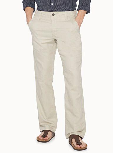 Cotton-linen pant | Le 31 | Mens Straight Leg Pants: Shop Straight Leg Pants for Men | Simons