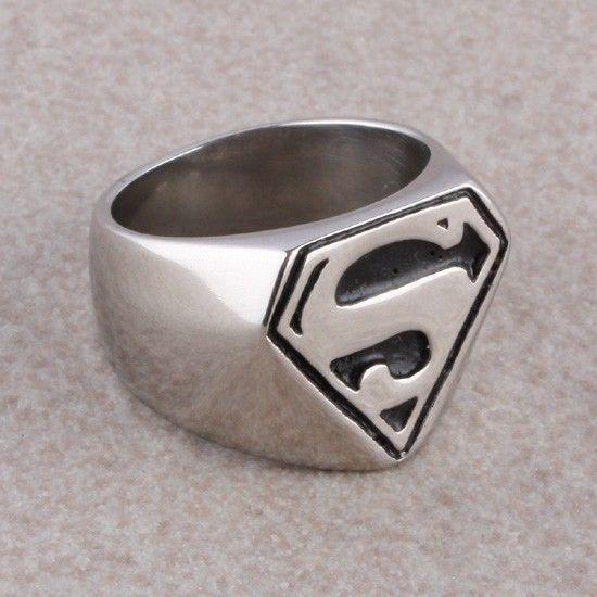 Heavy Stainless Steel Cross Eagle Skull Head Superman Finger Ring Men's Jewelry   eBay