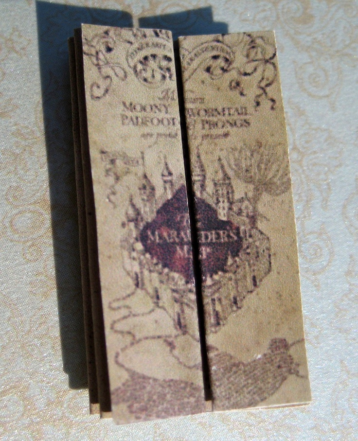 Harry Potter Dollhouse Miniature Marauders Map of Hogwarts. $19.95, via Etsy.