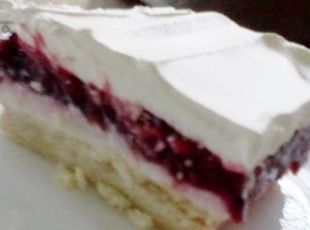 Luscious Blackberry Cream Cheese Dessert Recipe This was so easy toake and soooooo good!!!  The crust is very rich!!!