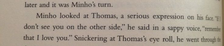 The Maze Runner book quote