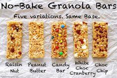No-Bake Chewy Granola Bars - My Kitchen Escapades