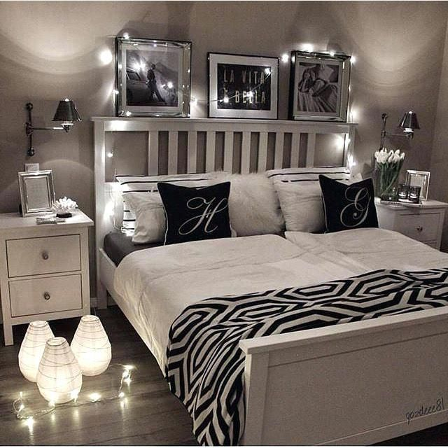 Bedroom Ideas With Black Furniture Master Black And White Room