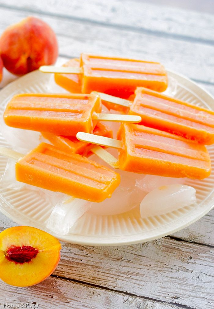 Jul 28 Peach Ginger Ice Pops | Feelings, Home and Sweet