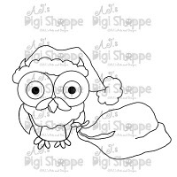 $3.00 Santa Owl Digital Stamp from A.J.'s Digi Shoppe™