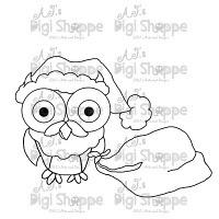 $3.00 Santa Owl Digital Stamp from A.J.'s Digi Shoppe™