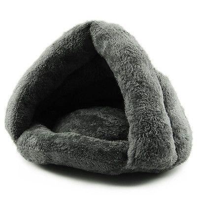 Hot Soft Kitten Cat/Dog House Puppy Cave Pet Sleeping Bed Mat Pad Igloo Nest