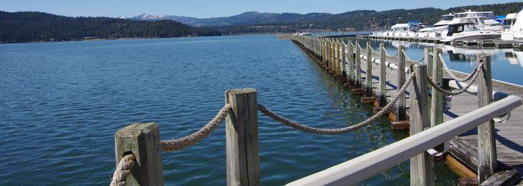 Docks on Lake Coeur d'Alene Coeur d'alene, Alene, Lake