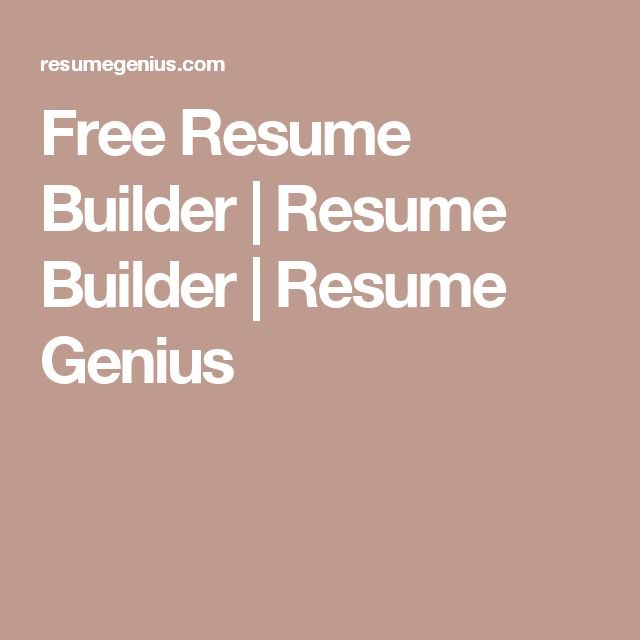 The 25+ best Free resume builder ideas on Pinterest Resume - resume genius
