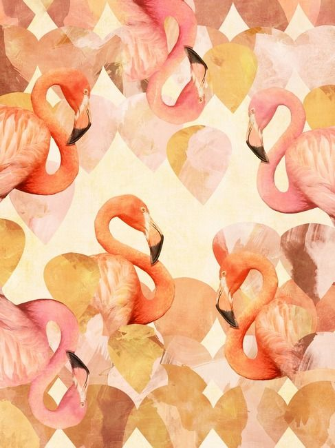 Art by Nancy Ramirez: Pinkflamingo, Wall Art, Colors Tones, Canvas Prints, Pattern, Pink Flamingos, Frames Prints, Flamingos Mingl, Art Prints