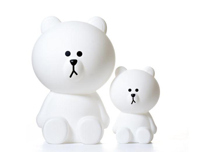 La lampe ours brown, taille S et XL de notre designer Mr Maria (Pays Bas), peut…