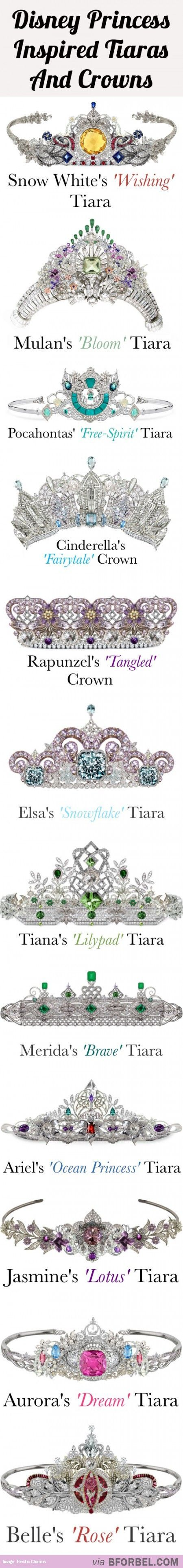 12 Disney Princess Tiaras And Crowns…: