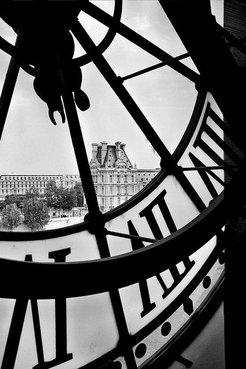 Paris view from a clock