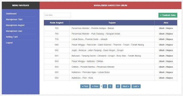 Aplikasi Manajemen Tiket Metromini Sederhana Dengan Php Mysql Php Sederhana Aplikasi