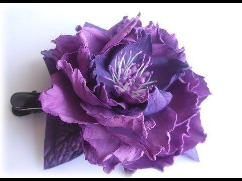 МК Цветок из фоамирана для начинающих.