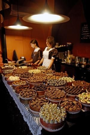 Lviv Chocolate Factory - Lviv, Ukraine one of my favorite places!! they make the best chocolates and serve delicious cafe glace