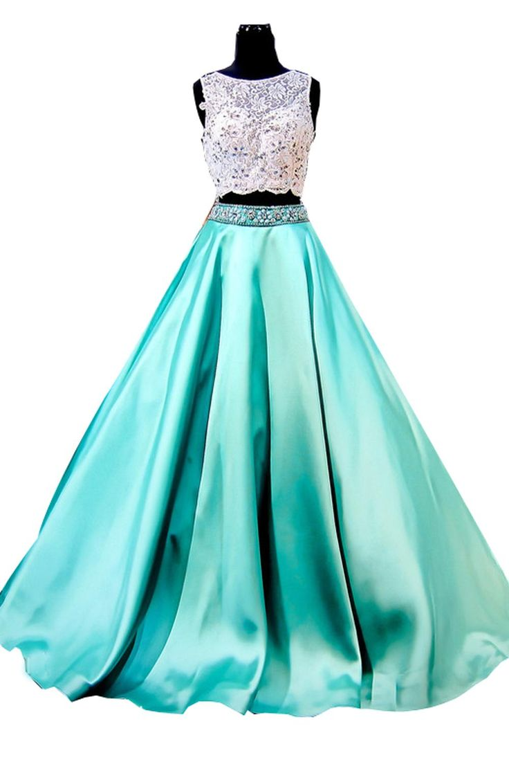 Emerald Green White O Neck Lace Beaded A Line Floor Length Custom Made Satin Graduation Gowns Two Piece Prom Dresses 2016 Prom Dress Clearance Prom Dress Hire Uk From Yaya01, $160.2| Dhgate.Com