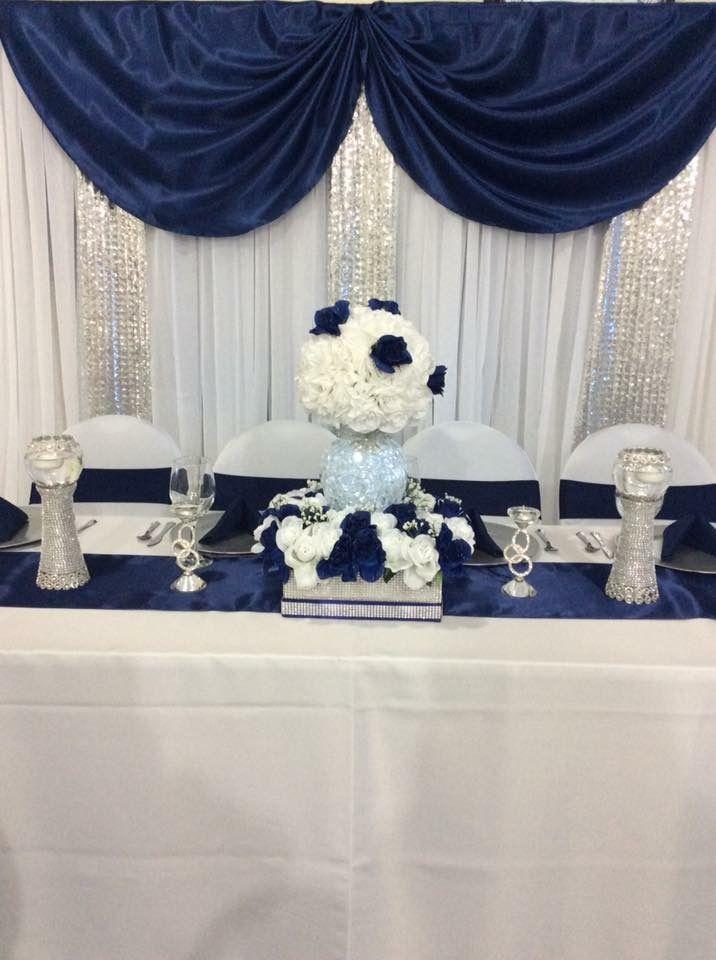 Navy Blue And White Wedding Decor Blue And White Wedding Decorations Decor