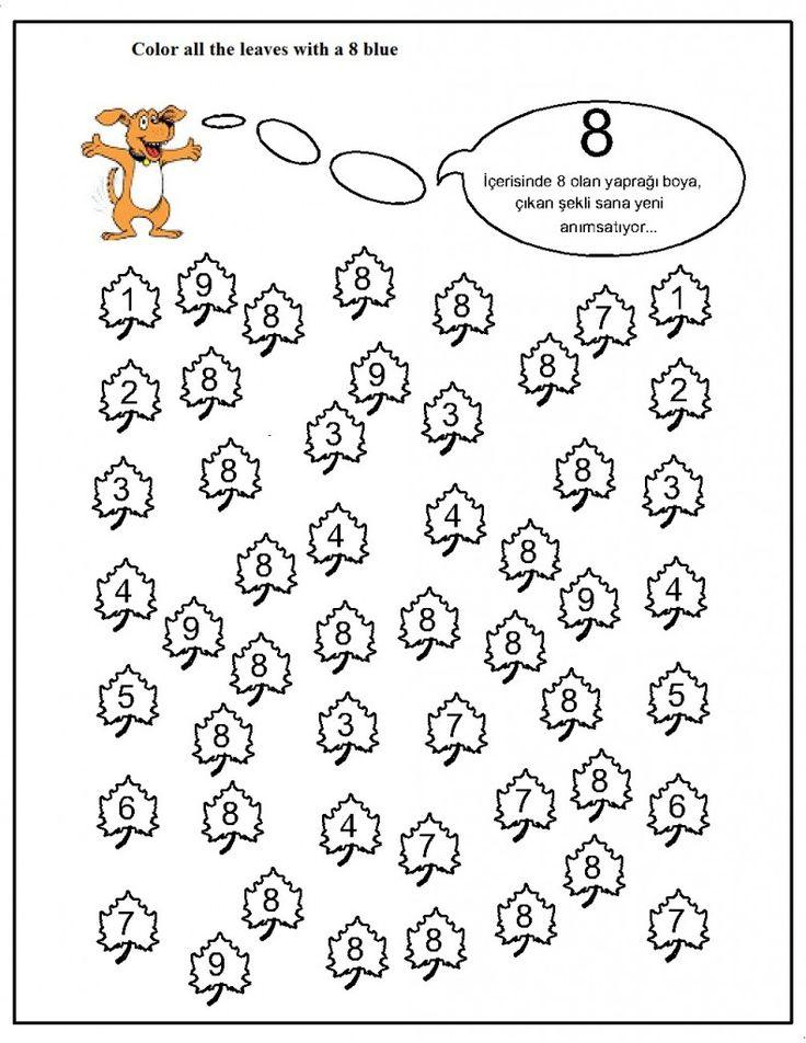 number hunt worksheet for kids (16) | Crafts and Worksheets for Preschool,Toddler and Kindergarten