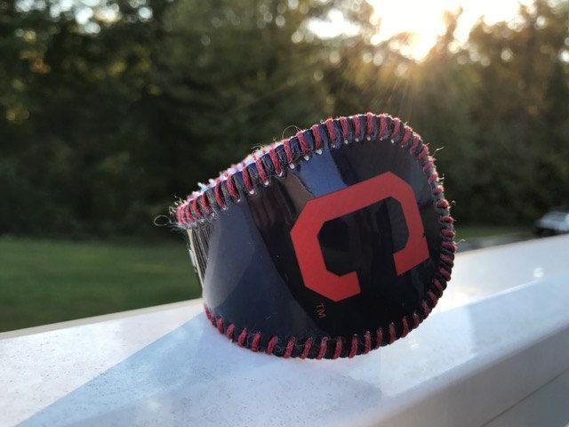 Cleveland Indians Logo Baseball Bracelet Cuff by deniseandkimdesigns on Etsy