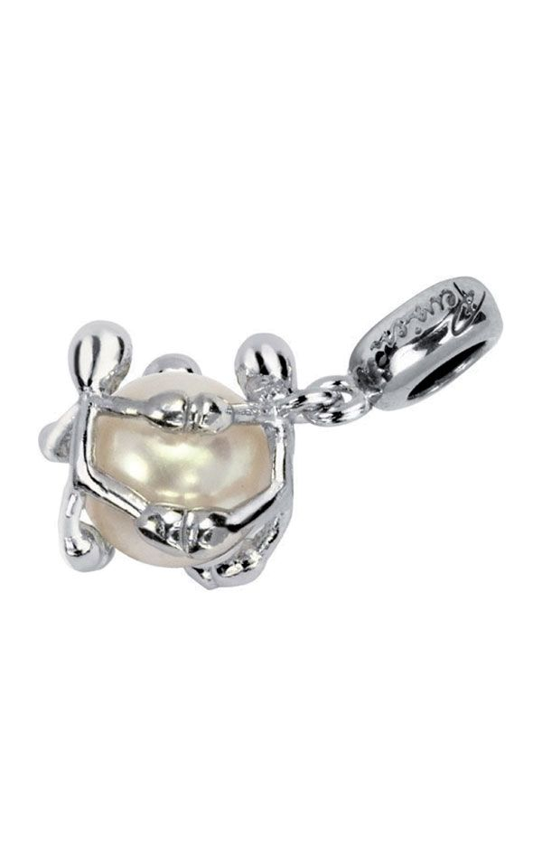 Charm Pensieri Felici in argento con Perla naturale coltivata di acqua dolce