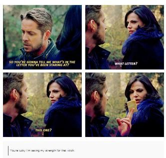 I died when he stole the letter from the Evil Queen like it was no big deal