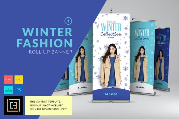 Winter Fashion Roll-Up Banner 1 | Winter fashion, Banners ...