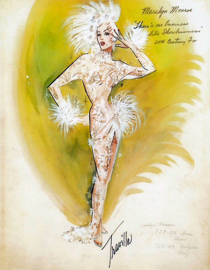 Travilla costume design for Marilyn Monroe in There's No Business Like Show Business (1954)