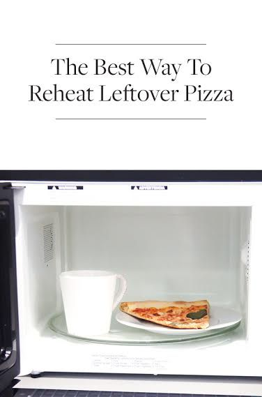 How to Make Day-Old Leftover Pizza Taste Crispy and Fresh and Not Limp and Depressing via @PureWow