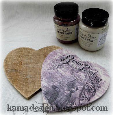 chalk paint birdie darling heart