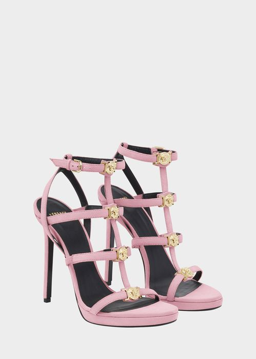 Versace Signature Medusa Strap Sandal for Women | Official Website. Open  toe, high heel