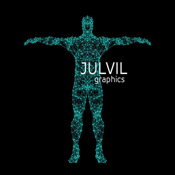Conceptual vector illustration of  human body.