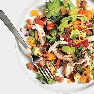 Toss up a taco salad with a healthy twist for less than 400 calories. #nutrition #diet | health.com